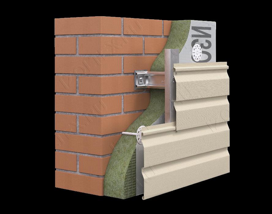 отделка кирпичных стен сайдингом